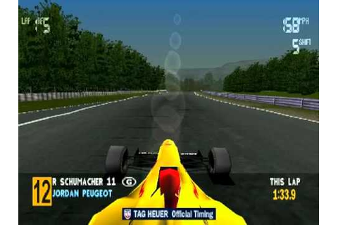 Formula 1 97 Spa-Francorchamps Race (PS1) - YouTube