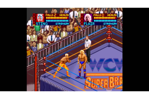 WCW - Super Brawl Wrestling SNES - YouTube