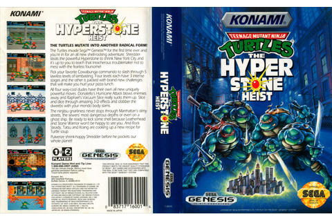 teenage mutant ninja turtles: the hyperstone heist / sega ...