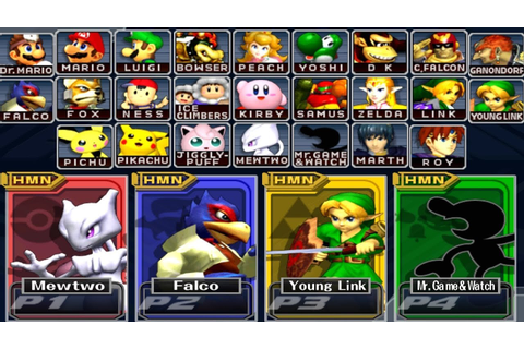 Super Smash Bros Melee - How to Unlock All Characters ...