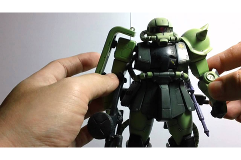 MG Review 002 - MS-06F/J Zaku II ver 1.0 - YouTube