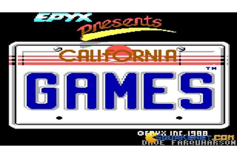 California Games gameplay (PC Game, 1987) - YouTube