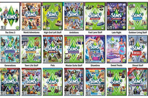 The Sims 3 Stuff packs on Qwant Games