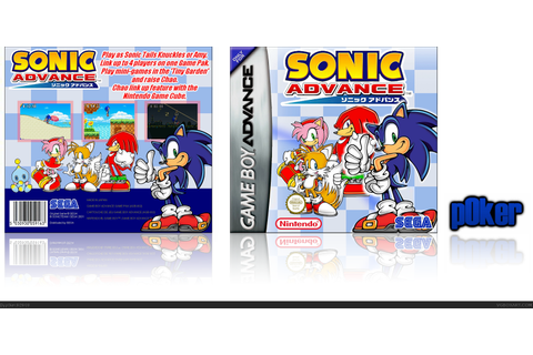 Sonic Advance Game Boy Advance Box Art Cover by p0ker