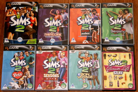 Games - The Sims 2 Collection [1 x Starter Pack, Set of 6 ...