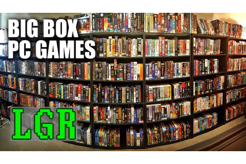 LGR - The Big Box PC Game Collection Room Tour - YouTube