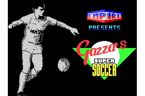 Gazza's Super Soccer (1990) by Empire ZX Spectrum game