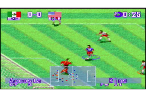 International Superstar Soccer Deluxe (SNES) gameplay ...