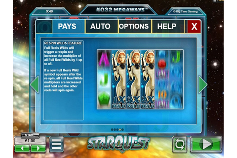 Starquest Megaway™ slot from Big Time Gaming | free play ...