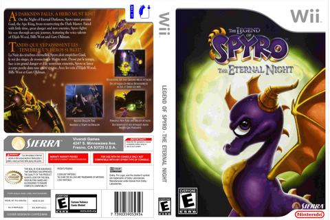 Legend Of Spyro The Eternal Night - Nintendo Wii Game ...