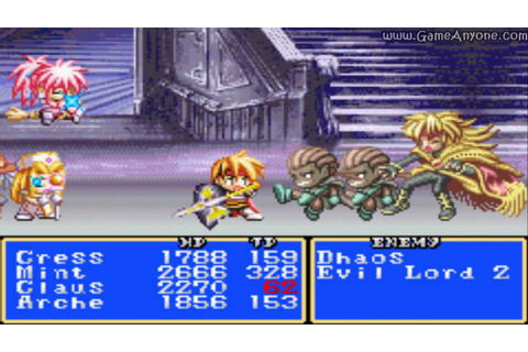 Tales of Phantasia [GBA] Walkthrough - Part 39 - BOSS ...