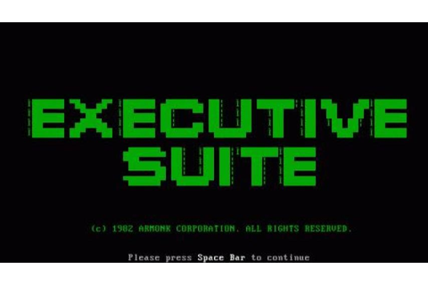 Executive Suite gameplay (PC Game, 1982) - YouTube