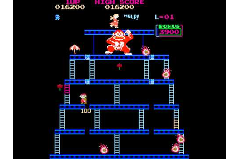 Arcade Game: Crazy Kong (1981 Falcon?) - YouTube