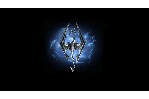 Skyrim Blue Fire Dragon Game Logo HD Wallpaper | Games ...