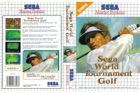 Sega World Tournament Golf - Europe All sides - Scans ...