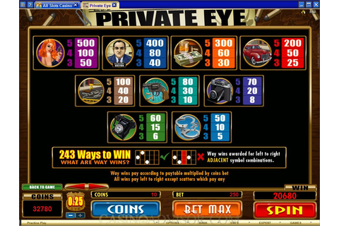 Microgaming Private Eye Online Casino Video Slot Game Review