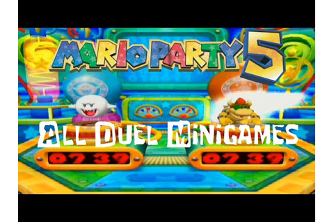 Mario Party 5 - All Duel Mini-Games HD - YouTube