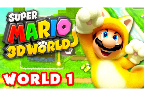 Super Mario 3D World - Walkthrough Part 1 - World 1 100% ...