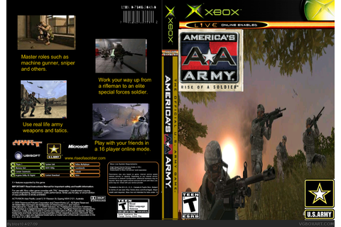 Americas Army: Rise of a Soldier Xbox Box Art Cover by blos10