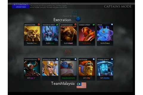 Synergy Game 3 : Team Malaysia vs Execration - YouTube