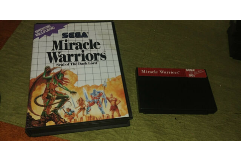 Miracle Warriors: Seal of the Dark Lord (Sega Master, 1988 ...