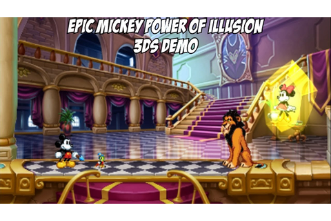 Disney's Epic Mickey - Power of Illusion 3DS Demo - YouTube