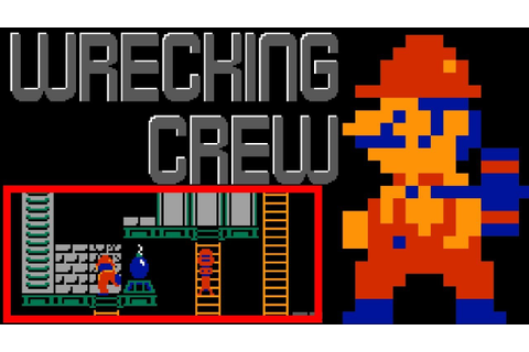 Wrecking Crew (FC/NES) | Playthrough - YouTube
