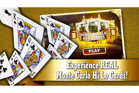 Monte Carlo Hi-lo Cards FREE - Live Addicting High or ...