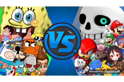 CARTOONS Vs VIDEOGAMES! (TV Vs Video Games) Character ...