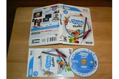 uDraw Studio game for the original Nintendo Wii THQ 2010 U ...
