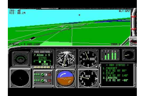 [PC DOS] LHX: Attack Chopper - Supply Run - YouTube