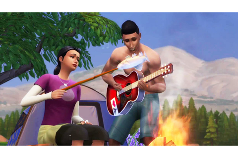 THE SIMS 4 - Outdoor Retreat Trailer - YouTube
