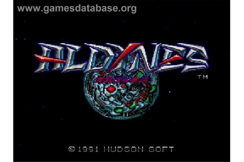 Aldynes - NEC SuperGrafx - Games Database