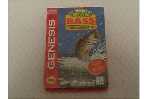 Sega Genesis TNN Outdoors Bass Tournament '96 Video Game ...