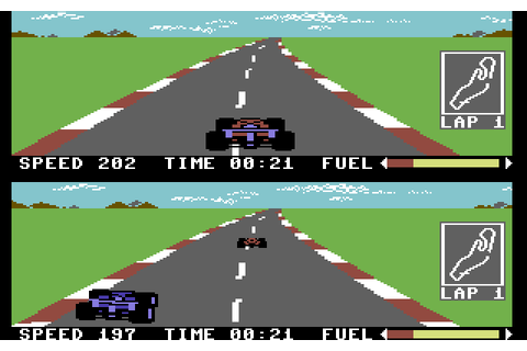 Pitstop II (1984) C64 game