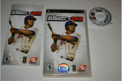 Major League Baseball 2K8 Sony Playstation PSP Video Game ...