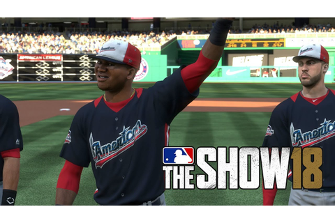 MLB 18 The Show All Star Game National League vs American ...