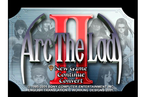 Arc the Lad II (1996) by ARC Entertainment PS game