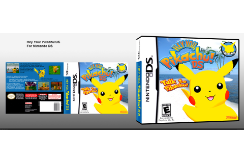 Hey You! Pikachu! Nintendo DS Box Art Cover by negativetwo