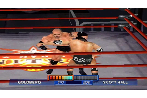 WCW Mayhem PS1 720P HD Playthrough - GOLDBERG VS SCOTT ...