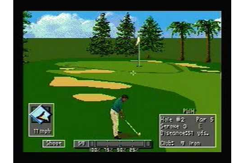 PGA Tour 96 - SNES Gameplay - YouTube