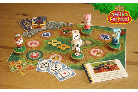 Animal Crossing amiibo festival board game display by ...