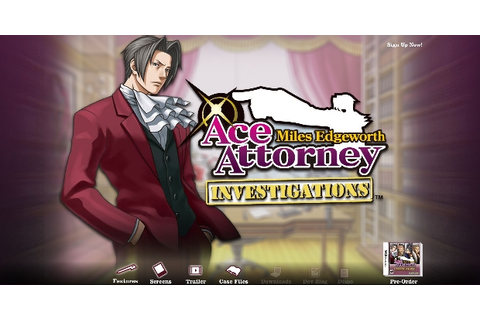 INVESTIGATIONS: Miles Edgeworth Web site is now live!