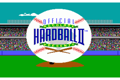 Hardball II (1989) by Accolade MS-DOS game