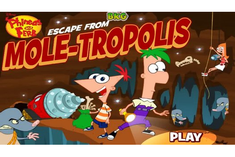 Phineas And Ferb Escape From Mole-Tropolis Game - Best Kid ...