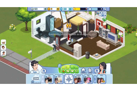 Jogando The Sims Social no Facebook - YouTube