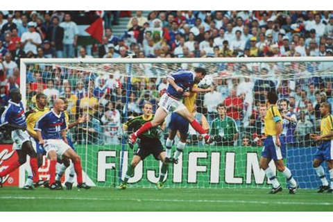 1998 - Zinedine Zidane, France 3 - 0 Brazil, 98 World Cup ...