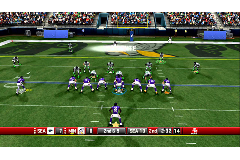 All Pro Football 2K8 Seahawks ( NFLHITMAN ) vs Vikings ...