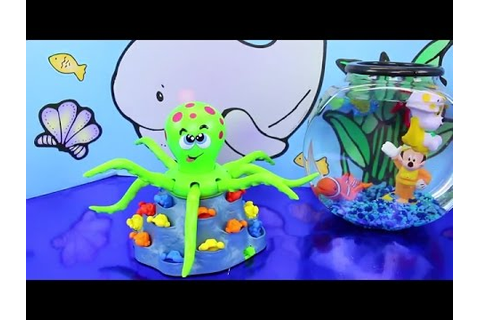 Jolly Octopus Board Game Challenge Toy Review with Fish ...