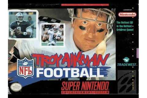 Troy Aikman NFL Football (Super Nintendo) - Game Play ...